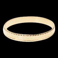 14K 2.7mm Squared Pattern Wedding Band Ring Size 7 Rose Gold [CQXK]