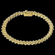 "14K 1.76 Ctw Classic Diamond Tennis Bracelet 6.75"" Yellow Gold [CQXK]"