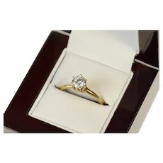 10K Round Solitaire Class Retro Travel Engagement Ring Size 9 Yellow Gold [CQXK]