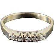 14K 0.15 CTW Diamond Wedding Band Vintage Ring Size 9 White Gold [QWXC]