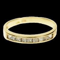 10K Classic Princess Channel Wedding Band Ring Size 7.5 Yellow Gold [CQXS]