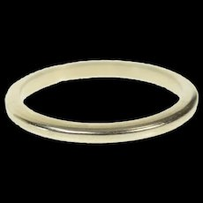 18K 1.7mm Classic Simple Plain Stackable Band Ring Size 4 White Gold [CQXS]
