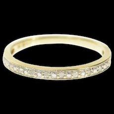 10K Diamond Classic Simple Wedding Band Ring Size 7 Yellow Gold [CQXS]