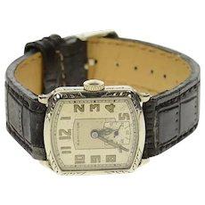 Hamilton Art Deco 26.5x23.5mm Leather Strap Men's Watch [CQXP]