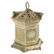 Sterling Ornate Japanese Lantern Salt Pepper Shaker   [CQXP]