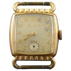 Vintage Bulova 26mm 15 Jewel Wrist Men's Watch [QWXC]