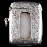 Sterling Silver Charles S Green & Co Match Safe    [QWXF]