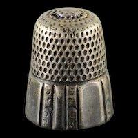 Sterling Silver #8 Thimble    [QWXK]
