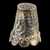 925Sterling Silver Ornate Thimble    [QWXK]