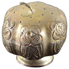 925Sterling Silver Mexico Floral Motif Salt/Pepper Shaker    [QWXK]