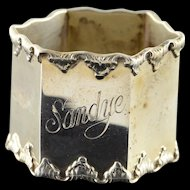 Sterling Silver #8697 Napkin Ring    [QWXK]
