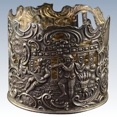 Sterling Silver Brand-Hier Co. Ornate Figural Sleeve w/ Scroll Design #5187    [QPQX]