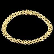 "14K Fancy Link Bracelet 7.25"" Yellow Gold  [QPQX]"