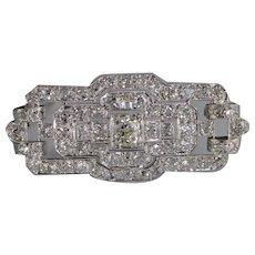Edith Art Deco Old European Cut Diamond Pin/Brooch