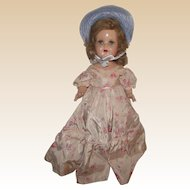 "Beautiful Vintage Composition Arranbee R & B ""Nancy Doll"" In Original Outfit 17"" Tall Circa 1938 (B)"