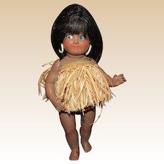 """Gorgeous Vintage Rare Original Flirty Eyes Bonomi Italian Doll, Original Outfit 12"""" Tall Circa 1950's"""