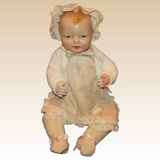 """Gorgeous Vintage Effanbee Large """"Bubbles Doll"""" 24"""" tall Circa 1925 (B)"""