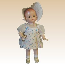 Effanbee Beautiful Vintage Patsy Ann Doll Circa 1930's