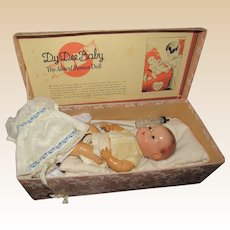 """Vintage Effanbee NM """"Dy Dee Baby Doll In Original Box 10"""" Tall Circa 1940's"""