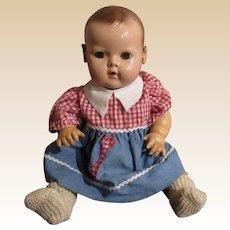 "Vintage Effanbee Dy-Dee Baby Doll 14"" Circa 1940's"