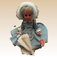 "Vintage Stunning Mint In Box Italian Furga Doll ""Elisabetta"" In Original Box and Outfit"