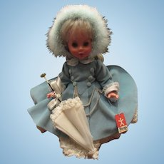 """Vintage Stunning Mint In Box Italian Furga Doll """"Elisabetta"""" In Original Box and Outfit"""