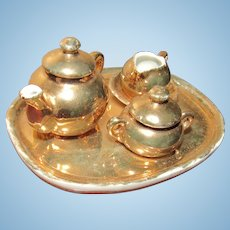 Antique German Miniature Dollhouse Tea Set