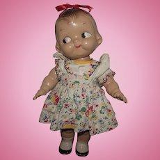 "Vintage Composition Horsman Campbell Kid Doll 12"" Circa 1948"