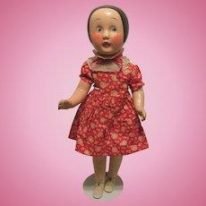 "Vintage Rare & HTF Horsman Doll ""Ella Cinders"" In Original Outfit 18"" Circa 1928"