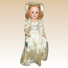 "Beautiful Vintage Horsman Doll ""Bright Star"" Original Wrist Tag & Outfit 18"" Circa 1950's"