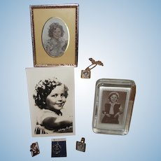 "A Vintage Lot of ""Shirley Temple"" Accessories, Pictures and Paperweight"