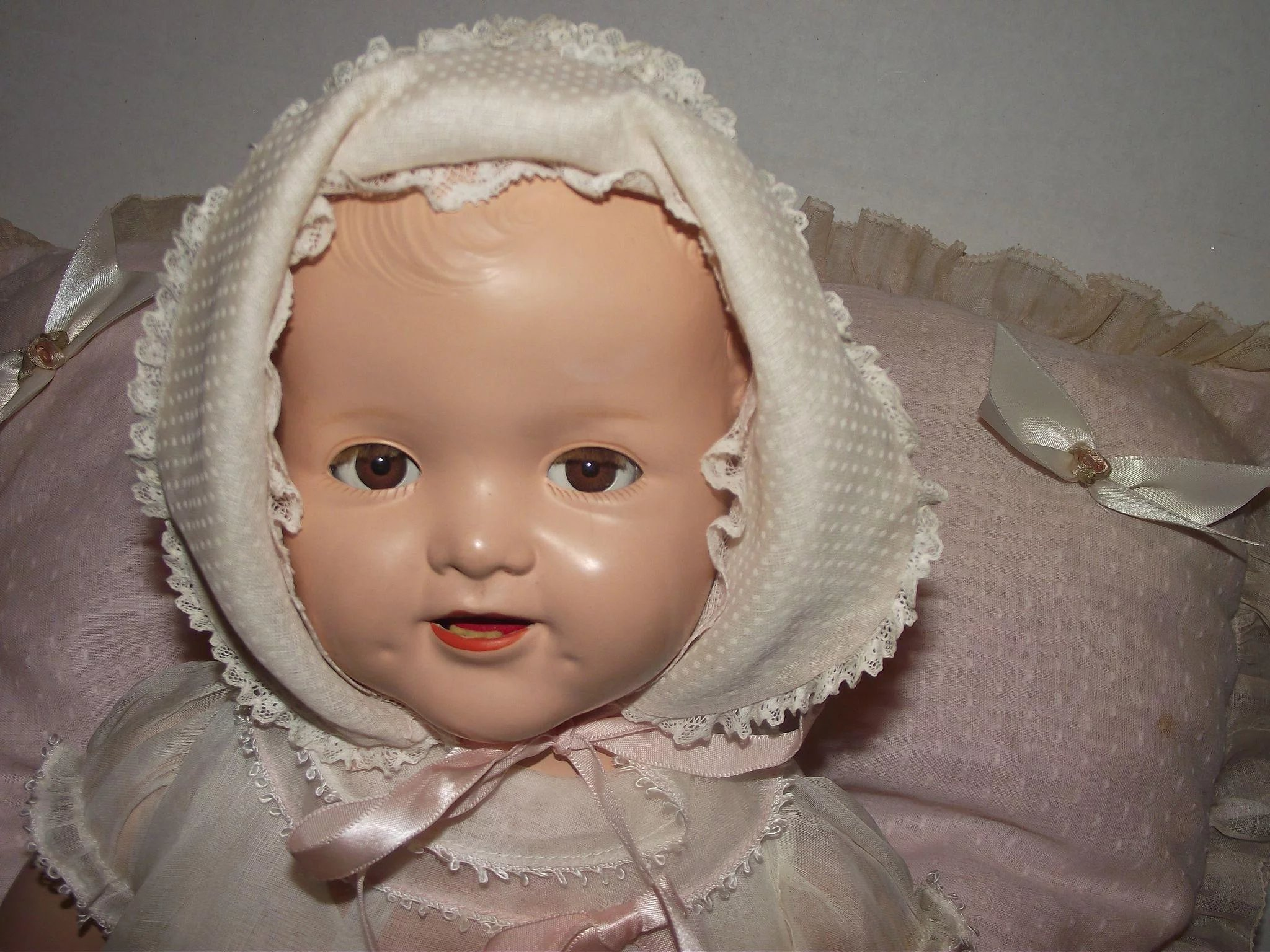 Vintage Ideal Flirty Eyes Baby Shirley Temple Rare Molded