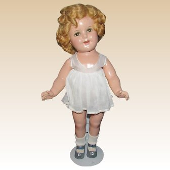 """Vintage Wonderful 18"""" High Color Shirley Temple Doll Circa 1930's"""