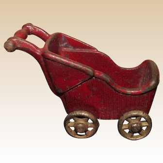 Kilgore Dollhouse Baby Buggy Stroller