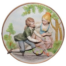 Two Beautiful Vintage Lenwile Ardalt Figurine Plates