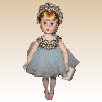 "Vintage Madame Alexander Stunning ""Elise Ballerina"" Wrist Tag & Original Tagged Ballerina Outfit 16"" Circa 1957"