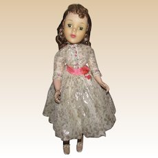 """Vintage Madame Alexander Beautiful """"Shari Lewis Doll"""" In Orig Tagged Outfit, Rare  21"""" Circa 1959"""