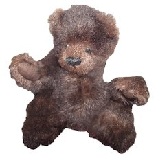 "Sweetest Brown Mohair Jointed Teddy Bear ""Nicholas"" 8"""
