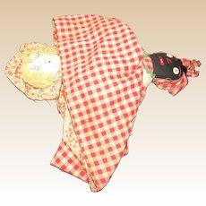 """Old Wonderful Cloth Rag Folk Topsy Turvy Doll 12"""""""