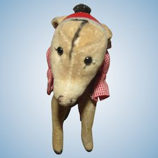 Wonderful Vintage Steiff Donkey With Original Chest Tag Circa 1950's