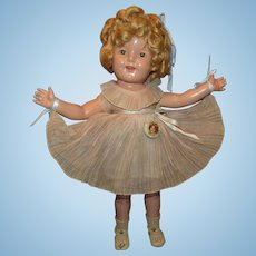 """Vintage Ideal Beautiful """"SHIRLEY TEMPLE DOLL"""" In Original Outfit 18"""" Circa 1934"""