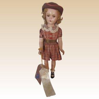 "Beautiful Vintage Rare Arranbee Debuteen Doll 18"" In Original Outfit Circa 1938"