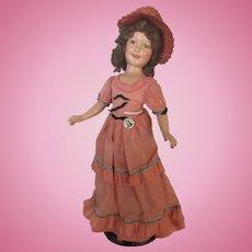 "Vintage High Color Stunning NM ""Deanna Durbin Doll"" 21"" Rare Outfit Circa 1938"