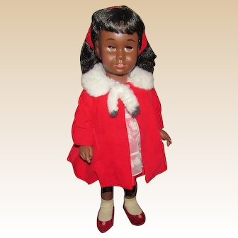 """Rare & HTF Vintage Gorgeous Black Chatty Cathy Doll With Original Tagged Clothing 20"""" Circa 1962"""