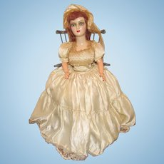 "Vintage 24"" Beautiful 1920's Boudoir Doll"