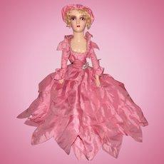"""Vintage Gorgeous Boudoir Doll 28"""" Circa 1920's"""