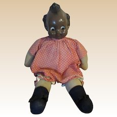 Vintage Large Wonderful Black Googly Eye Mama Doll