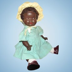 Vintage Beautiful Black Character All Composition Baby 21""