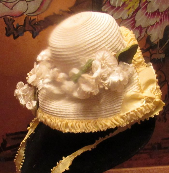 Beautiful Vintage Doll Straw hat with flowers : Stuck On Dolls ...