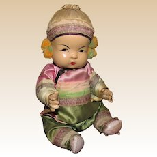 """Vintage Japanese Ming Ming Composition Baby Doll 8"""" Circa 1930's"""